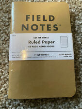 Field Notes Original Kraft 3 Pack Ruled Paper 48 Pages 35 X 55 New