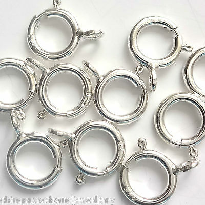 50 Sterling Silver Bolt Rings 6mm Findings