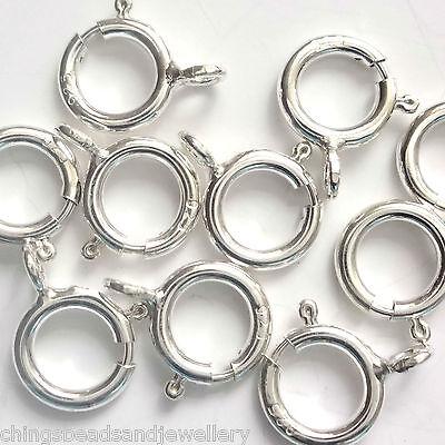 50 Sterling Silver Bolt Rings 6mm Findings