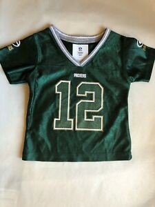 lowest price f8901 6277e Details about Green Aaron Rodgers Green Bay Packers Toddler Girls Game  Jersey 2T