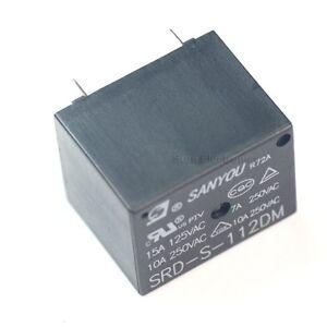 SANYOU-SRD-S-112DM-12VDC-Coil-Power-Relay
