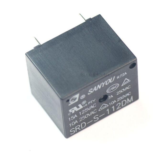 5Pcs 12VDC SRD-S-112DM 15A 125VAC 4Pins Coil Power Relay  AB