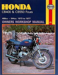 haynes manual 0262 honda cb400 cb550 fours 73 77 workshop rh ebay co uk Honda CBX 400 Specs Honda 400 Super Sport