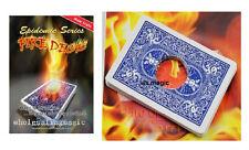 Hot Fire Deck Close Up Street Card Fire Hole Magic Trick FISM T11 Ellusionist DD
