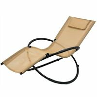 Orbital Zero Gravity Chair Recliner Lounge Patio Pool Black Tan Navy Blue Brown