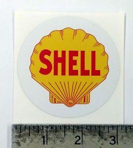 "Vintage Shell sticker decal 3"" diameter"