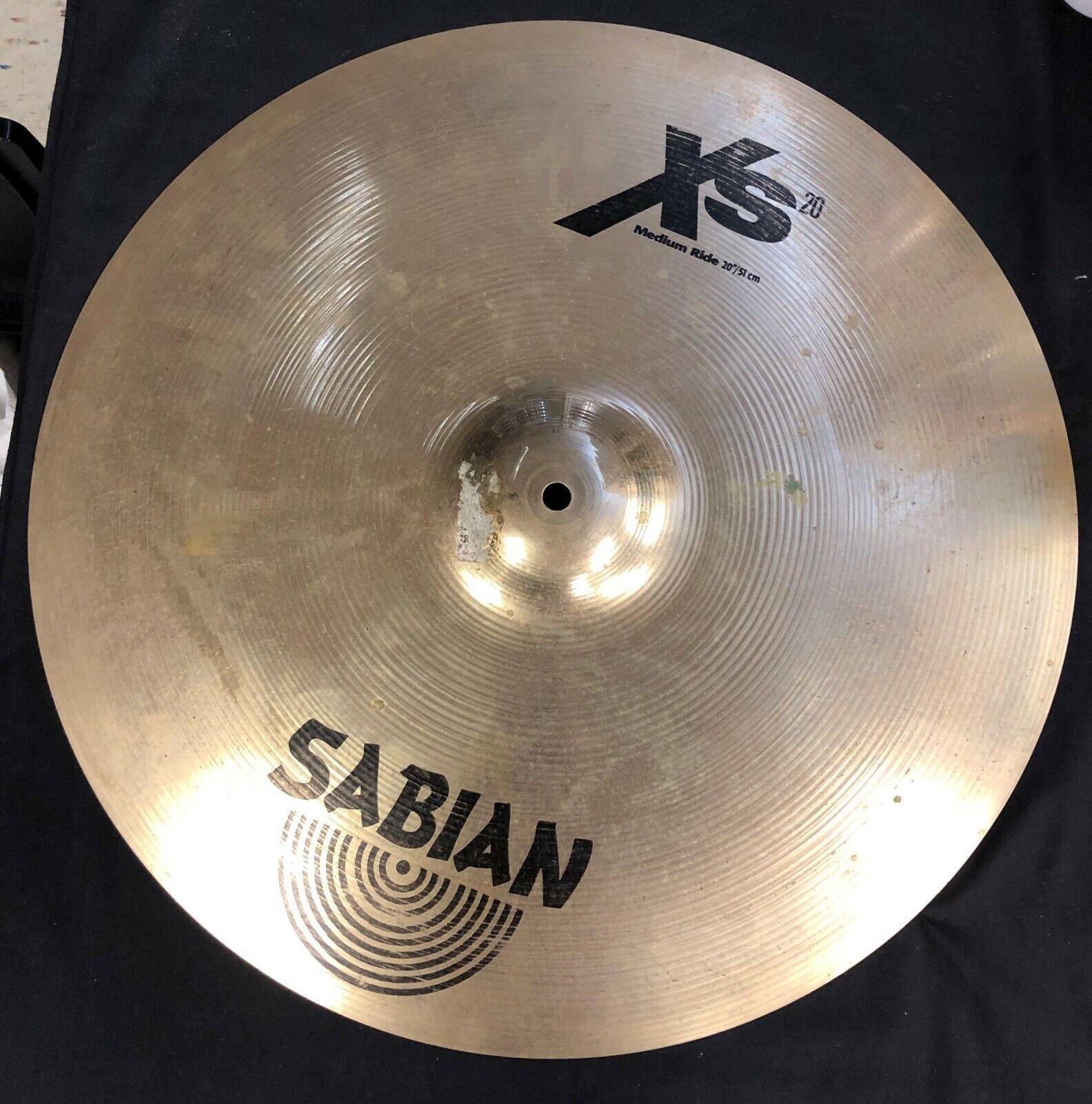 Sabian XS20 Medium Ride 20  Cymbal Drum Piece Free Shipping