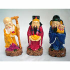 Statuette figurine chinoise, trois vieux sages bonheur, richesse et longévité