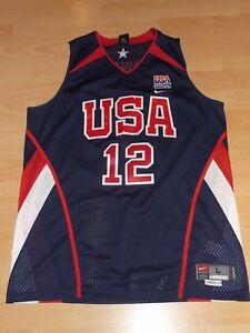 Capable Usa Basketball Dwight Howard 12 Nba Authentic Maillot Nike L Jersey Coupe Du Monde Japon 2006-afficher Le Titre D'origine ModéLisation Durable