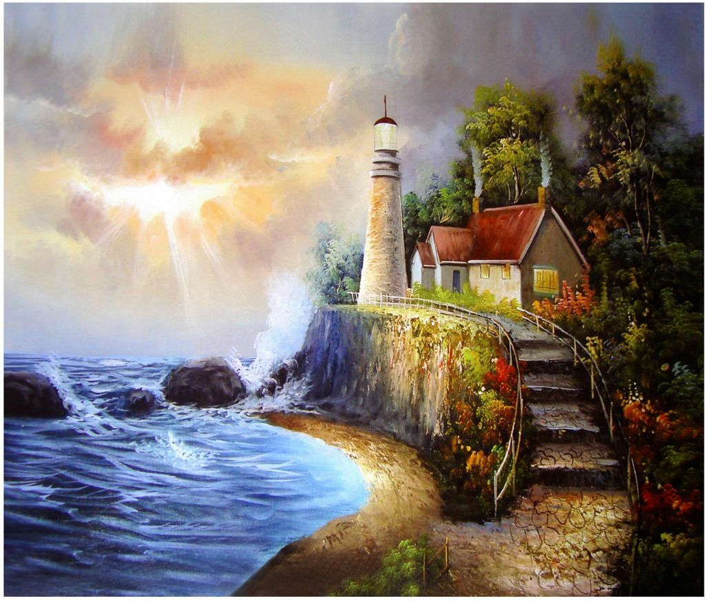 3D Mega Seaside Cottage Picture82 Wall Paper Wall Print Decal Wall AJ Wall Paper