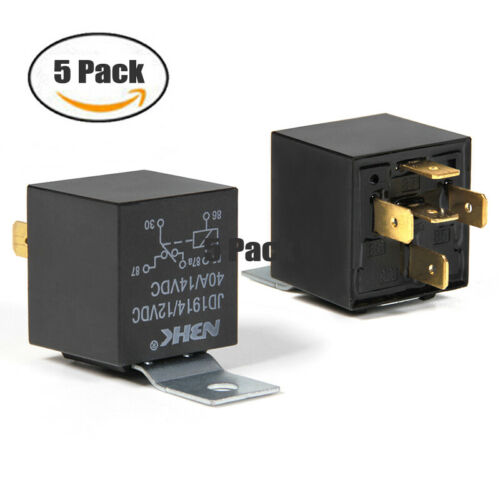 5 PCS 12V Automotive Changeover Relay 40A 5-Pin SPDT Switching Relays Car Van