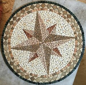 ROsoni-rosone-mosaico-in-marmo-rosa-dei-venti-diam-100-incollata-su-rete-Cod-70