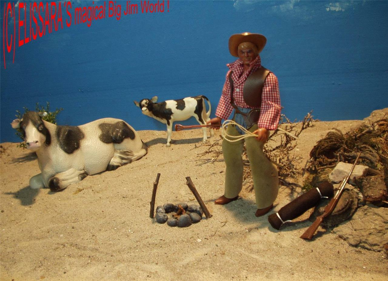 Big jim - karl may winnetou - jim als viehtreiber mit brandzeichen   cowboy