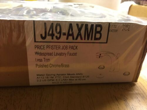 Price Pfister J49-AXMB Brass//Chrome Faucet Set