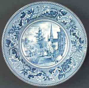 Johnson-Brothers-HISTORIC-AMERICA-BLUE-Michigan-Ave-Rimmed-Soup-Bowl-278234