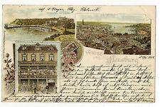 AK Gruss  aus Flensburg Kaufhaus Ranges Kurz Spielwaren 1898