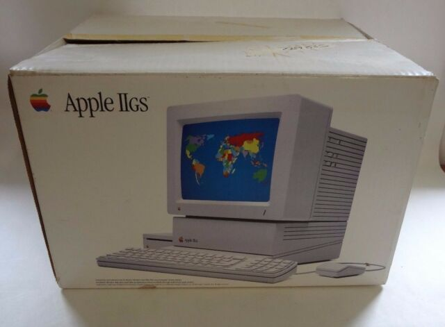 Vintage Macintosh Apple II GS Computer System Original EMPTY BOX ONLY