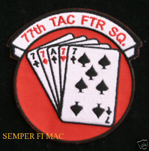 77TH-TAC-FTR-FIGHTER-SQUADRON-PATCH-US-AIR-FORCE-PIN-UP-F-111HEYFORD-WING-GIFT
