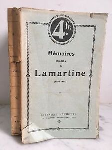 Memoires-Lamartine-No-Publicado-1790-1815-Paris-Hachette-Y-Cie-1909