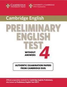 PET Practice Tests: Cambridge Preliminary English Test 4