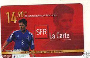 Télécarte - Série Equipe de France de Football - Bixente LIZARAZU (A2952)