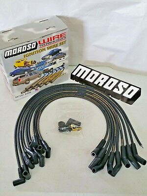 Moroso 73673 Ultra 40 Spark Plug Wires Ford 351W Windsor HEI Male Boot Terminals