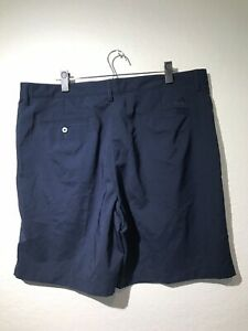 Mens-Adidas-ClimaLite-Athletic-Casual-Golf-Shorts-Size-38-Polyester-Navy-Blue