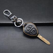 Genuine Leather Car Key Fob Case Holder Bag For Toyota Land Cruiser RAV4 Corolla