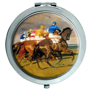 Horse-Racing-The-Start-Compact-Mirror