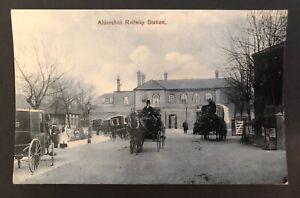 Postcard, Aldershot Railway Station, Hampshire