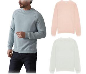 Herrenmode Mens Reiss Navy Blue Sweatshirt Long Sleeved Crew Neck Pull Over Size M Medium 100% Original Pullover & Strick