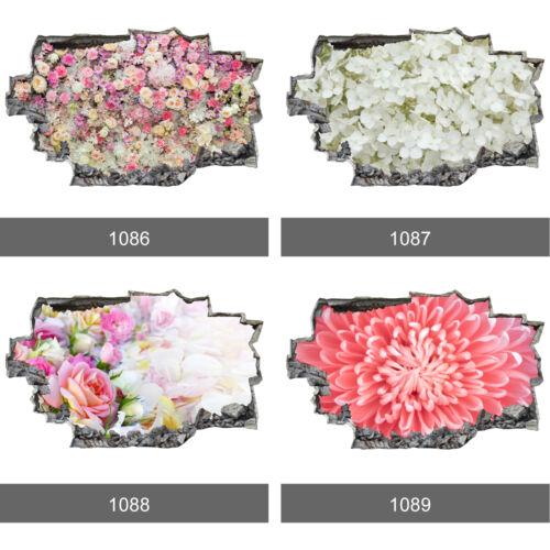 Hydrangea Roses Flowers Landscape 3D Wall Mural Photo Wallpaper Wall Stickers