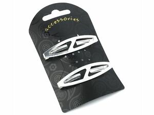 Silver-Oval-Clips-In-End-Metal-Barrette-Hair-Clips-Grips-Slides