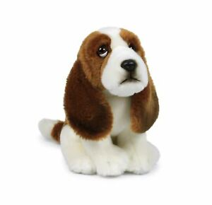 Anna-Club-Plueschtier-Basset-Hound-18cm-Hund-Kuscheltier-Stofftier-lebensecht