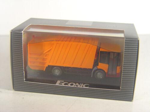 Wiking Mercedes Benz Sondermodell orange gebr Econic Preßmüllwagen HO 1:87