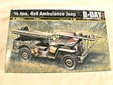 Ambulance jeep 1//4 ton 4x4 kit 1:35 mezzi militari scala italeri