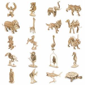 Animaux-3D-Puzzle-Modele-En-Bois-Jouet-Decoupe-Au-Laser-Enfants-Garcon-Fille