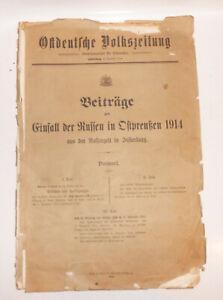 Beitrage-zum-Einfall-der-Russen-in-Ostpreusen-1914-Insterburg-Selten