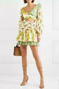 Chic-Runway-Puff-Sleeve-Floral-Print-Contrast-color-Short-Dresses-Fashion-Dress