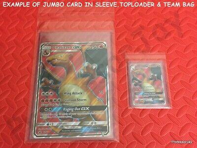 SLEEVE Pokemon Cards 1 NEW EMPTY JUMBO TOPLOADER TEAM BAG = MAX PROTECTION
