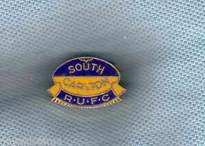 #D85. SOUTH CARLTON RUGBY UNION LAPEL BADGE