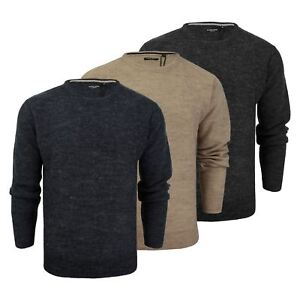 Mens-Jumper-Brave-Soul-Bayard-Wool-Mix-Crew-Neck-Knitted-Sweater