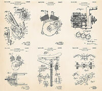 Indian Motorcycles Parts -gift Ideas For Motorcycle Riders- Patent Art Poster