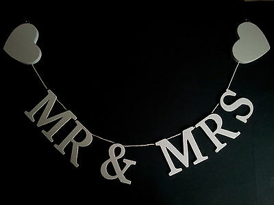 MR & MRS Wooden Letter Garland available in Small and Large ~ MR AND MRS