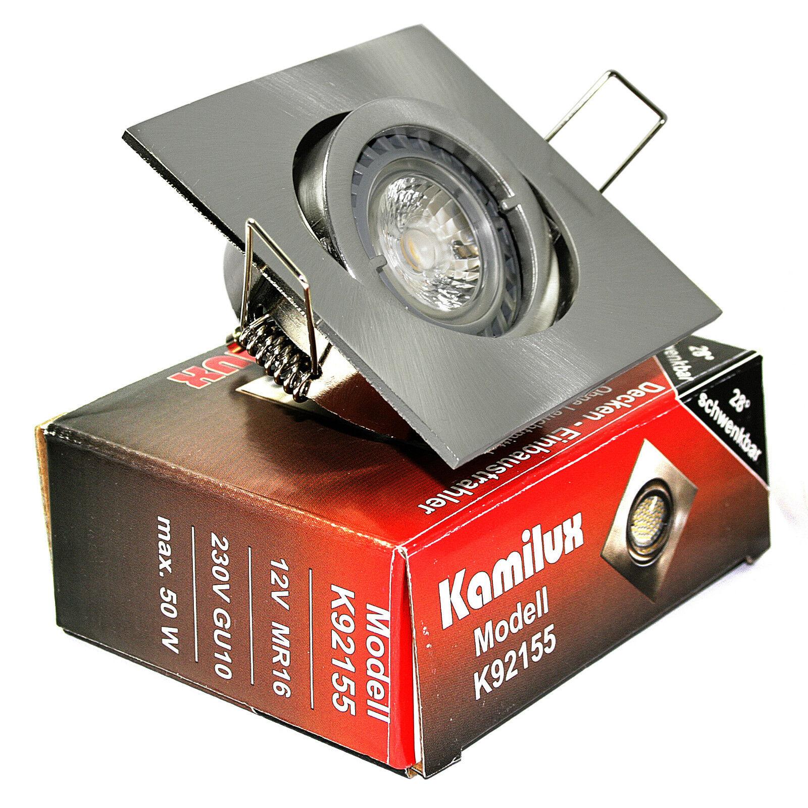12v LED 5 Watt Watt Watt DA INCASSO FARETTO quajo incl. LAMPADINA bassa volt mr16 gu5.3 b1ad1a