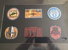 Star Wars Collectors Sew On Badge Set. Ltd Edn. 3938/6000. COA
