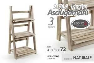 Portasciugamani In Legno Per Bagno.Dettagli Su Mobile Scala Porta Asciugamani Bagno In Legno 3 Ripiani 41 35 72cm Onu 753145