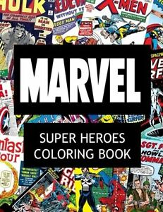Image Is Loading Coloring Book For Adults Marvel Super Heroes Stress