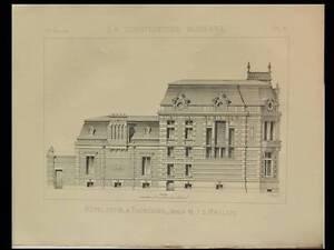 Intelligente Tourcoing, Hotel Prive - 1891 - Planche Architecture - Maillard Une Large SéLection De Couleurs Et De Dessins