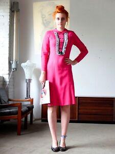 Bien éDuqué Little Eve Femme Robe Rose Pink 60er True Vintage 60´s Coton Cotton-afficher Le Titre D'origine Pour RéDuire Le Poids Corporel Et Prolonger La Vie
